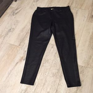 Faded Glory Leather Look Jeggings